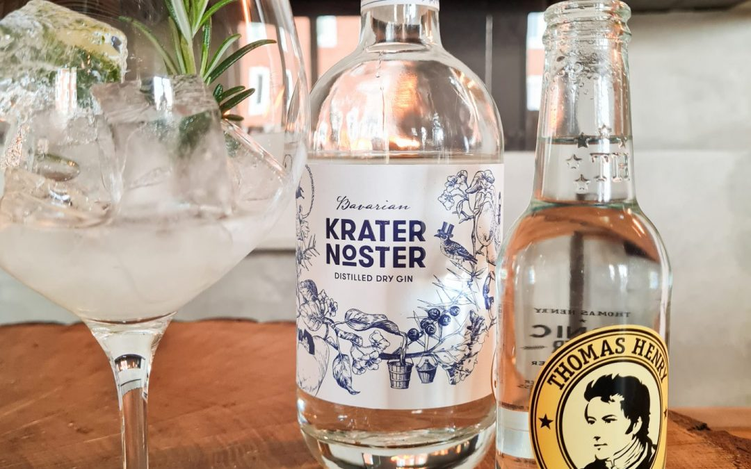 Gin Tonic mit Krater Noster und Tonic Water