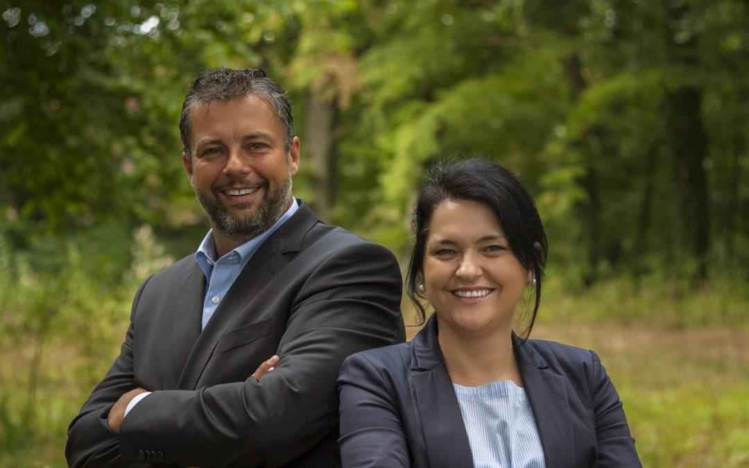 Gastgeber Florian König und Doris Hihn
