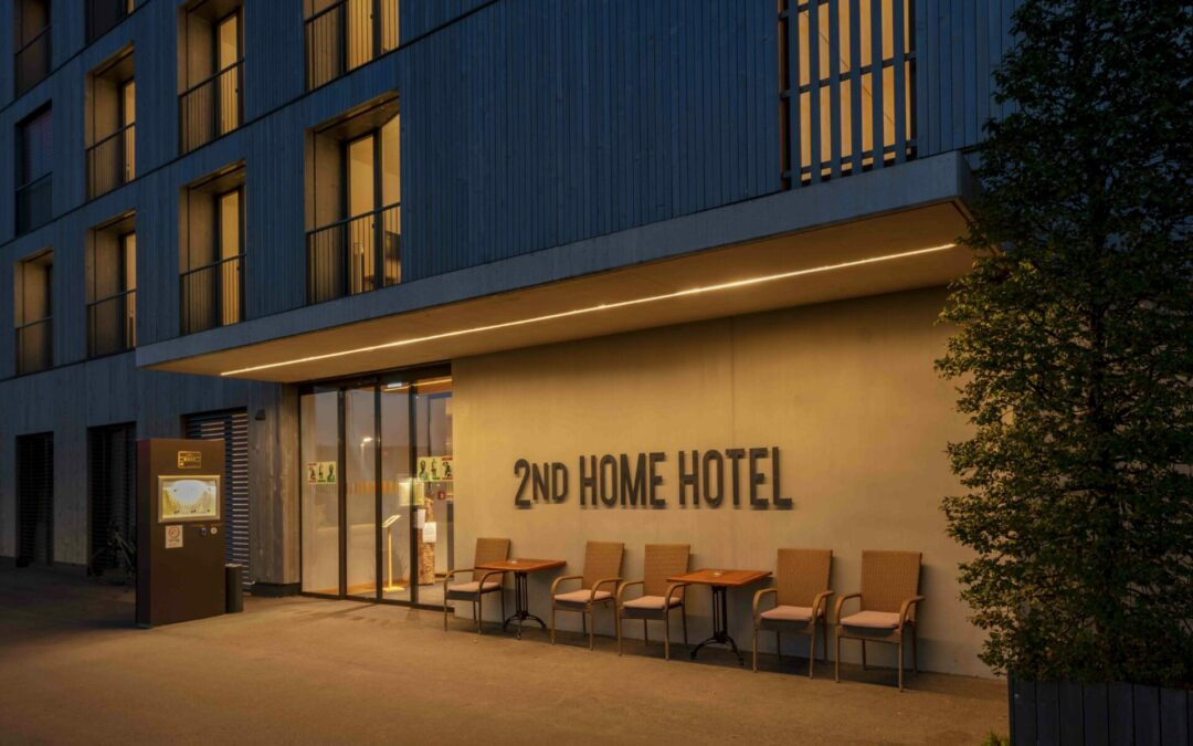 Hoteleingang 2ND HOME HOTEL